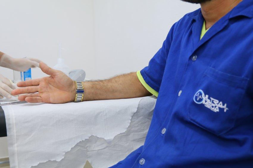 Cuidados clínicos com os colaboradores da Ultramega