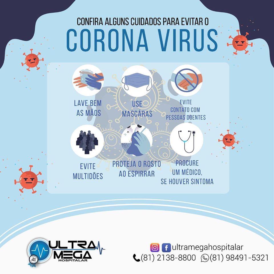 Alguns cuidados para evitar o Corona Vírus