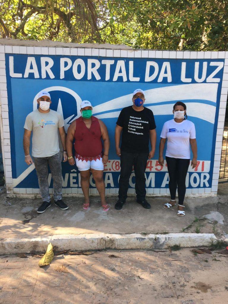 Doações feitas ao Lar Portal da Luz e para famílias carentes de Camaragibe