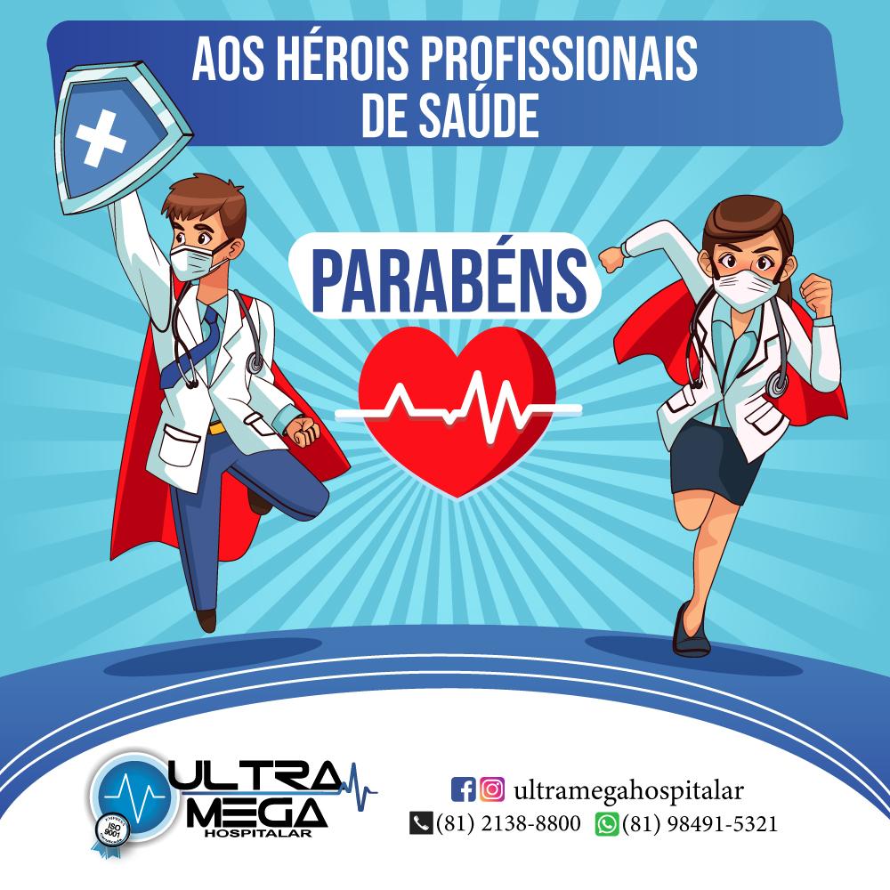 Aos Heróis profissionais de saúde
